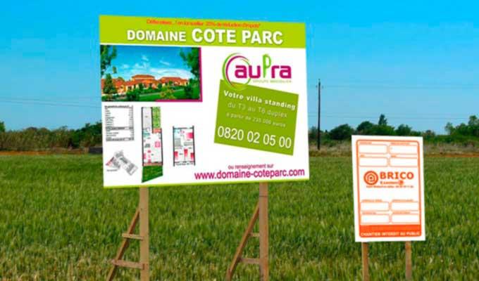 Panneau de chantier impression personnalis e de - Credit immobilier avec travaux ...