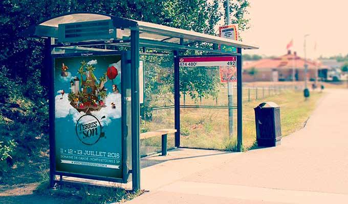 Affiche pas cher arrêt de bus