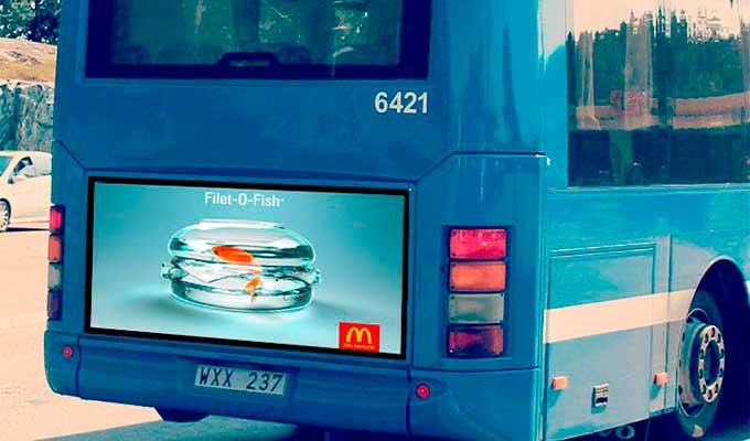Affiche personnalisé publicitaire pour bus