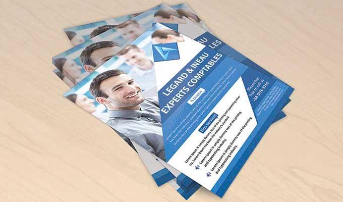 Impression en ligne de tracts publicitaires