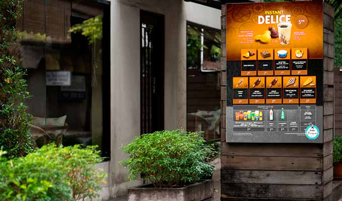 Panneau alu dibond publicité tarif commerce extérieur