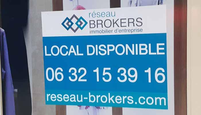 Autocollant commerce local à vendre ou à louer immobilier publicitaire