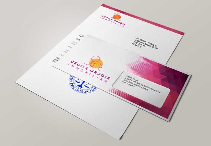 Enveloppes personnalisées pour l'immobilier taille DL