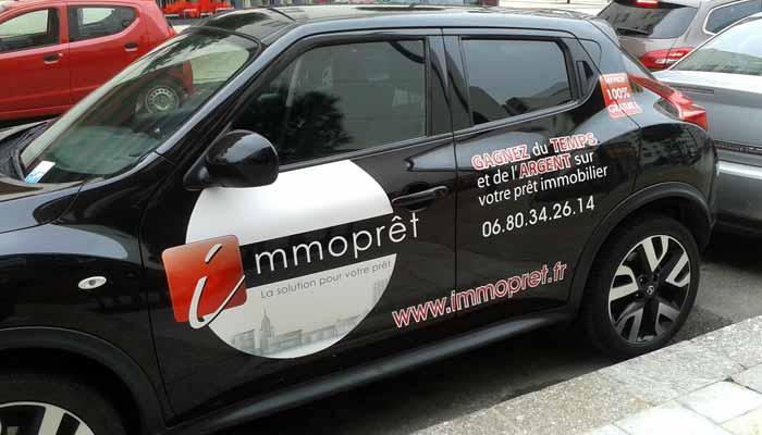 Publicité adhésive pour voiture, lettres autocollantes